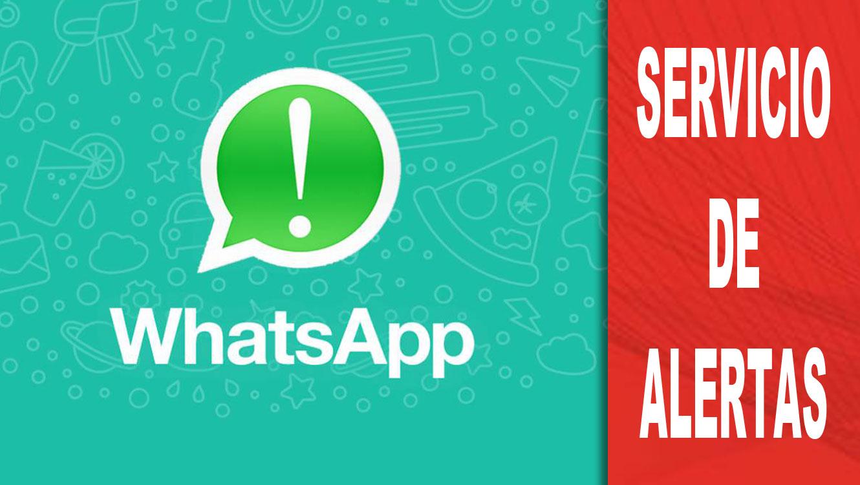 Servicio alertas Whatsapp